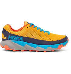 Hoka One One Torrent Rubber-Trimmed Mesh Trail Running Sneakers