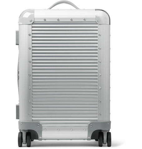 Bank S Spinner 53cm Aluminium Carry On Suitcase by Fabbrica Pelletterie Milano