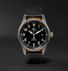 IWC SCHAFFHAUSEN - Pilot's Mark XVIII 40mm Stainless Steel and Leather Watch