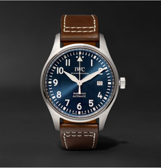 IWC SCHAFFHAUSEN Pilot's Mark XVIII Le Petit Prince Edition 40mm Stainless Steel and Leather Watch