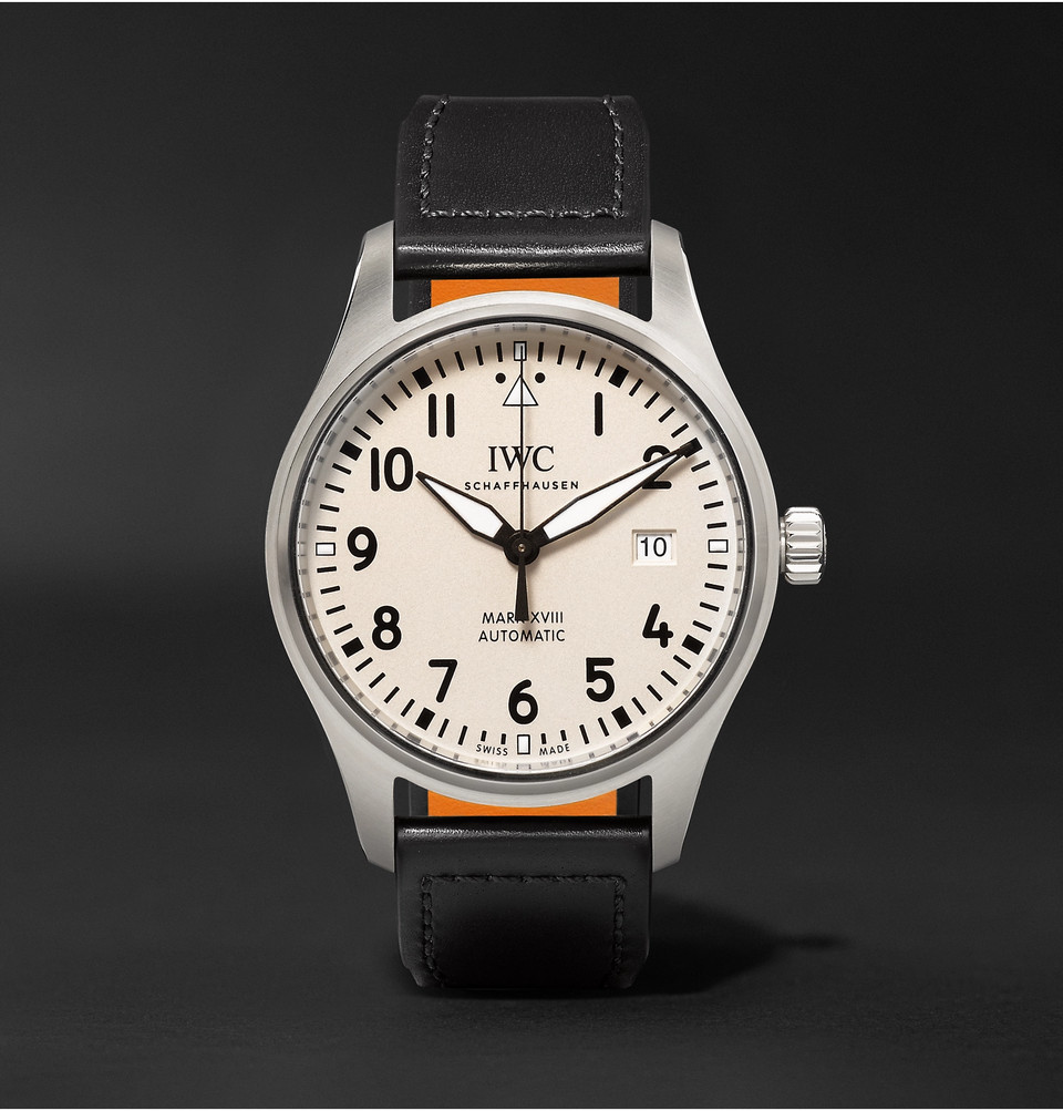 IWC SCHAFFHAUSEN Pilot's Mark XVIII 40mm Stainless Steel and Leather Watch, Ref. No. IW327002