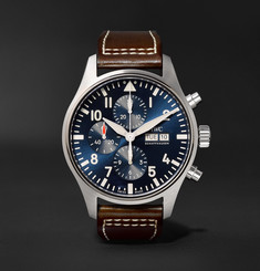 IWC SCHAFFHAUSEN IW377714 Pilot's Le Petit Prince Edition Chronograph 43mm Stainless Steel and Leather Watch, Ref. No