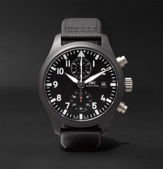 IWC SCHAFFHAUSEN Pilot's TOP GUN Chronograph 44mm Ceramic and Leather Watch, Ref. No. IW389001