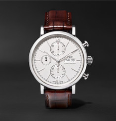 IWC SCHAFFHAUSEN Portofino Chronograph 42mm Stainless Steel and Alligator Watch, Ref. No. IW391007