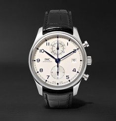 IWC SCHAFFHAUSEN Portugieser Classic Chronograph 42mm Stainless Steel and Alligator Watch