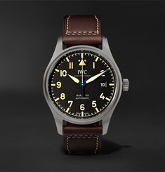 IWC SCHAFFHAUSEN Pilot's Mark XVIII Heritage Titanium and Leather Watch, Ref. No. IW327006
