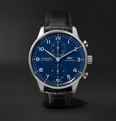 IWC SCHAFFHAUSEN - Portugieser 150 Years Limited Edition Chronograph 41mm Stainless Steel and Alligator Watch