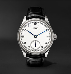 IWC SCHAFFHAUSEN - Portugieser 8-Day 150 Years Limited Edition Hand-Wound 43mm Stainless Steel and Alligator Watch