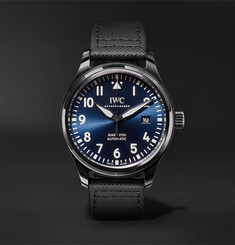 IWC SCHAFFHAUSEN - Pilot's Mark XVIII Laureus Sport For Good Foundation Automatic 41mm Ceramic, Titanium and Leather Watch