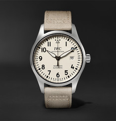 IWC SCHAFFHAUSEN - Pilot's Mark XVIII Automatic 40mm Stainless Steel And Webbing Watch