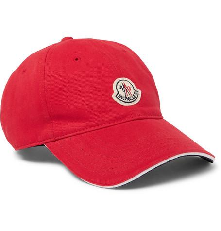 234e7cdc55a Moncler - Logo-Appliquéd Cotton-Twill Baseball Cap
