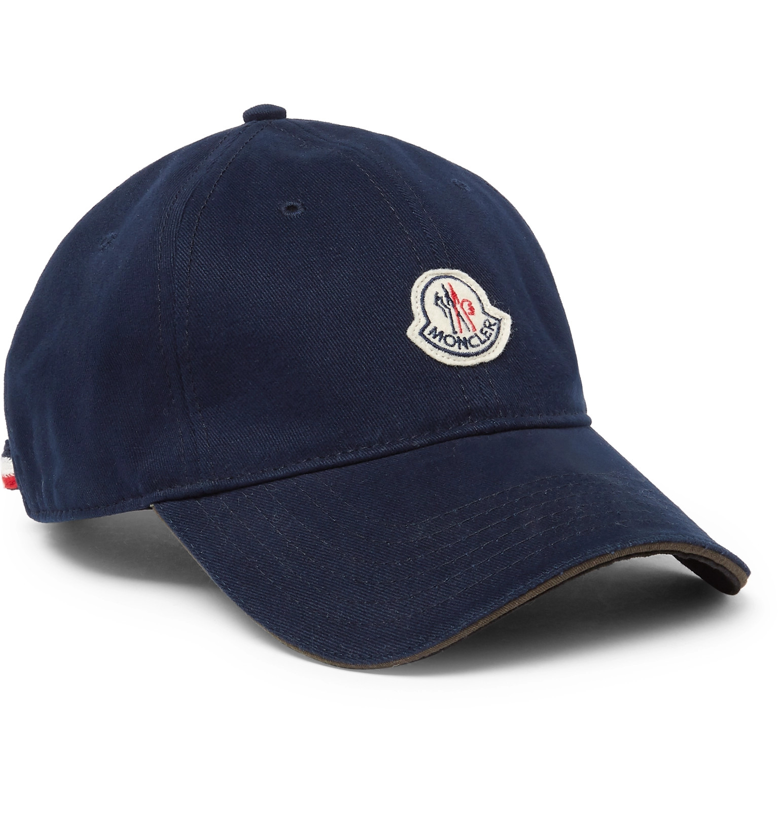 7ed79667970 Moncler - Logo-Appliquéd Cotton-Twill Baseball Cap