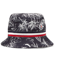 Moncler - Grosgrain-Trimmed Printed Shell Bucket Hat
