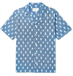 Folk - Camp-Collar Printed Cotton Oxford Shirt