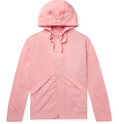 Packable Nylon And Cotton-blend Hooded Jacket - Pink