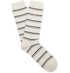Folk - Striped Stretch Cotton-Blend Socks