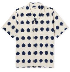 Folk - Camp-Collar Polka-Dot Cotton Oxford Shirt