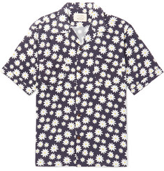 Holiday Boileau Camp-Collar Floral-Print Woven Shirt