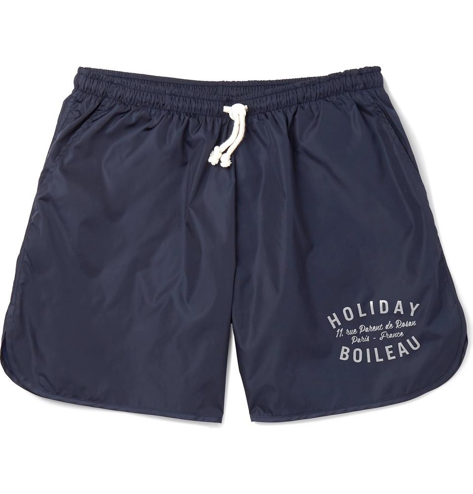 Mid-length Logo-print Swim Shorts - Navy