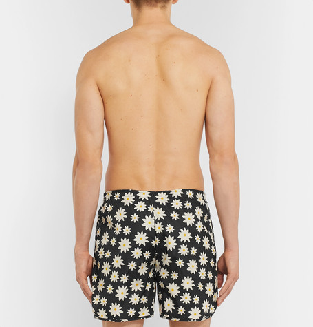 Printed Mid Length Swim Shorts by Holiday Boileau