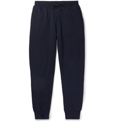 Holiday Boileau Tapered Fleece-Back Cotton-Jersey Sweatpants