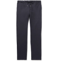 Bellerose Slim-Fit Pinstriped Cotton Drawstring Trousers