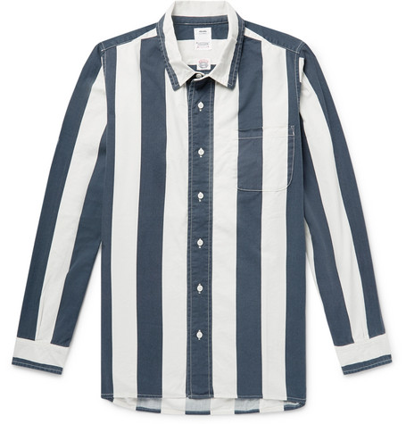 Striped Cotton Twill Shirt by Visvim