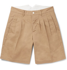 visvim Pleated Cotton-Blend Twill Shorts
