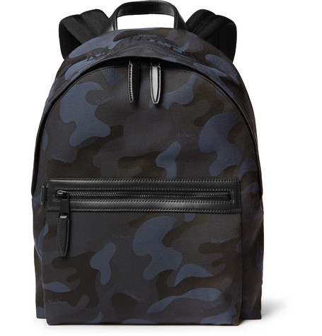Mulberry - Leather-Trimmed Camouflage-Print Canvas Backpack 144cee750f85e