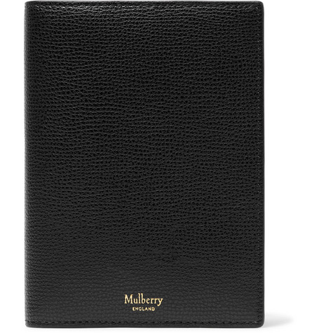 Cross Grain Leather Passport Cover by Mulberry