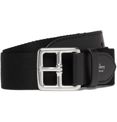 Mulberry - 3cm Black Canvas and Leather Belt