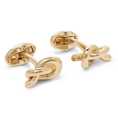Mulberry Knotted Gold-Plated Cufflinks