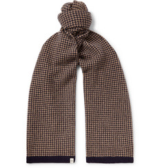 Mulberry Houndstooth Wool Scarf