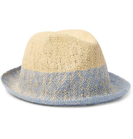 Paul Smith - Two-Tone Straw Trilby Hat 7f17d3b05d8c