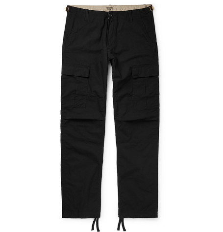 Aviation Slim Fit Cotton Ripstop Cargo Trousers by Carhartt Wip