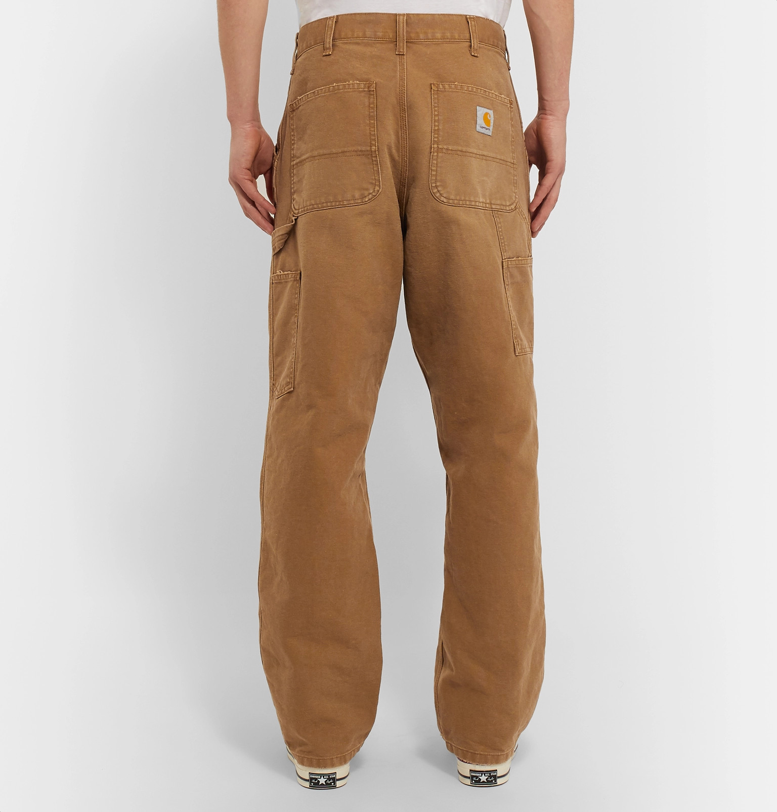 6c83821c5cc Carhartt WIP - Single Knee Wide-Leg Cotton-Canvas Trousers