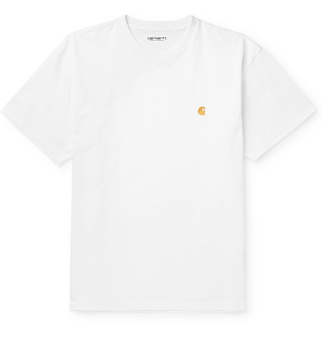 Chase Logo Embroidered Cotton Jersey T Shirt by Carhartt Wip