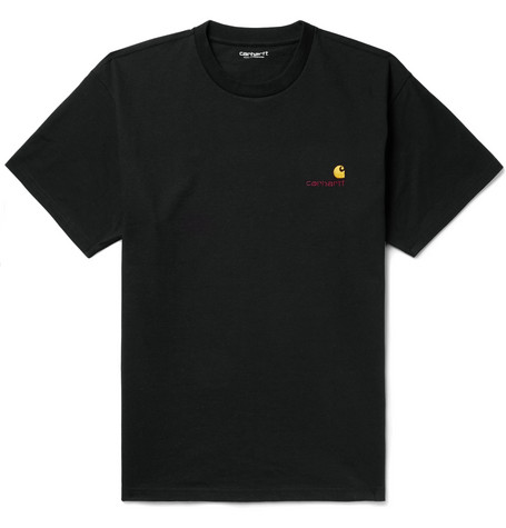 American Script Logo Embroidered Cotton Jersey T Shirt by Carhartt Wip