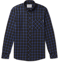 Carhartt WIP Lanark Button-Down Collar Checked Cotton Shirt