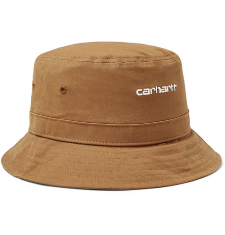 8104c4c5eaa Carhartt WIP - Script Logo-Embroidered Cotton-Canvas Bucket Hat