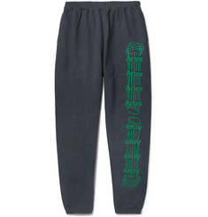 Aries Logo-Print Fleece-Back Cotton-Jersey Sweatpants