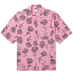 Aries Camp-Collar Printed Voile Shirt