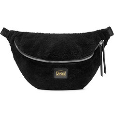 Aries Elis Leather-Trimmed Shearling Belt Bag