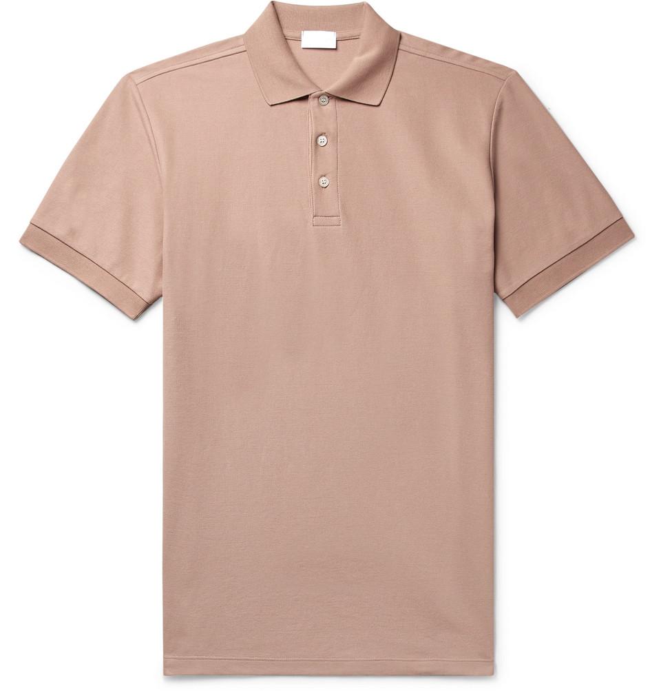 Pima Cotton-piqué Polo Shirt - Pink