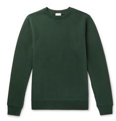 Loopback Pima Cotton-jersey Sweatshirt - Green