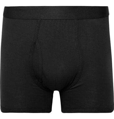 HANDVAERK | Handvaerk - Pima Cotton-Jersey Boxer Briefs - Black | Goxip
