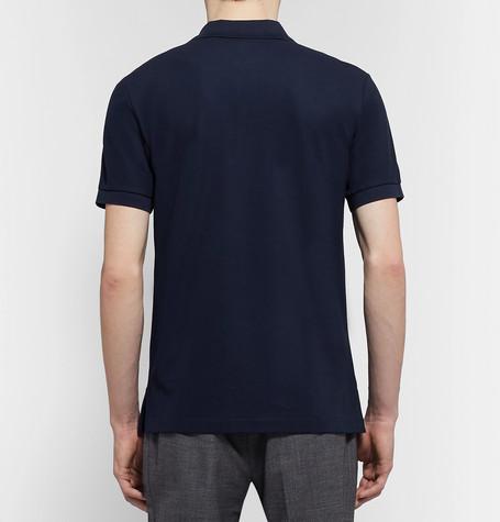 Pima Cotton Piqué Polo Shirt by Handvaerk