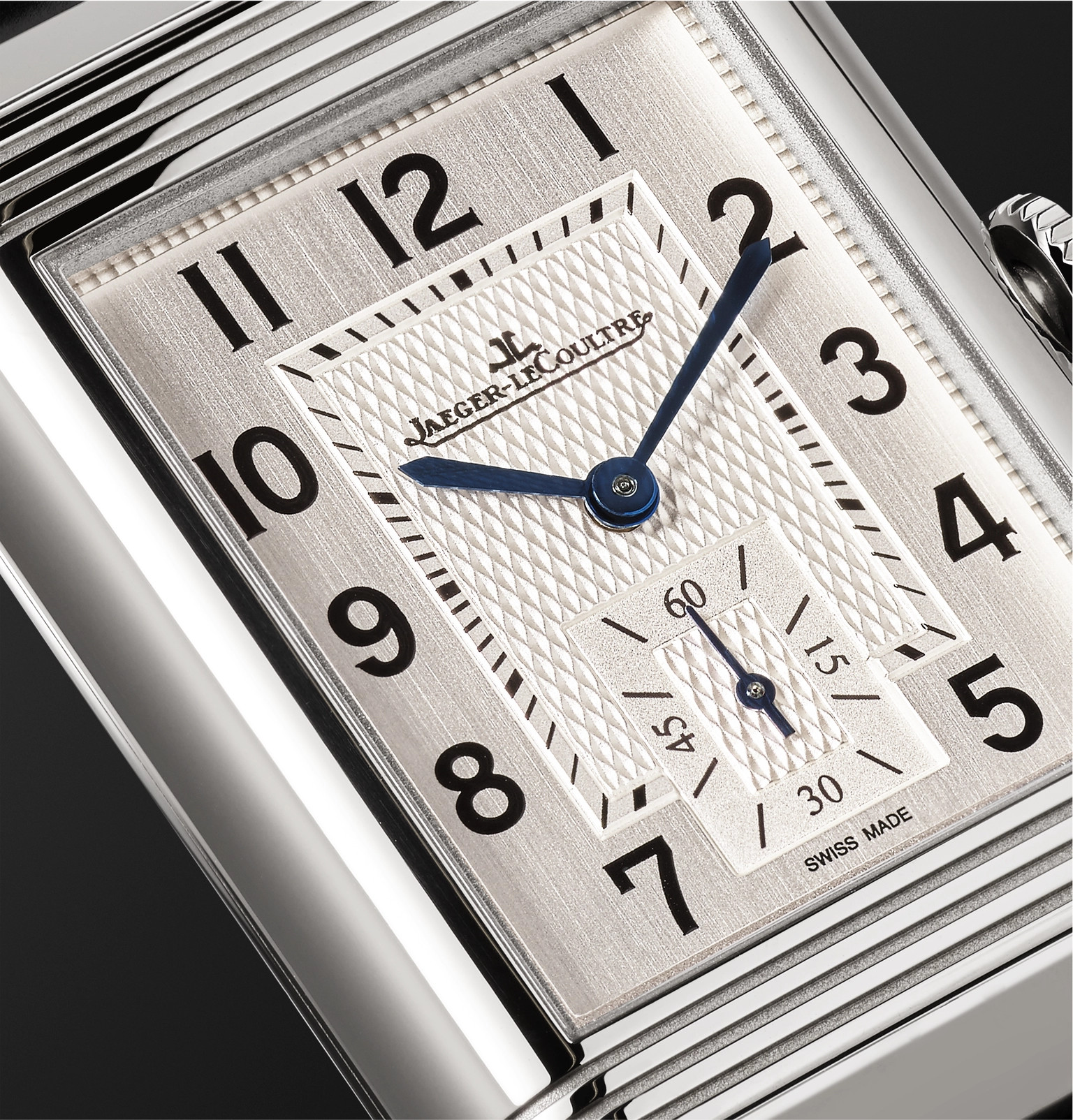 e6b42491b71 Jaeger-LeCoultreReverso Classic Large Duoface 28mm Stainless Steel and  Leather Watch