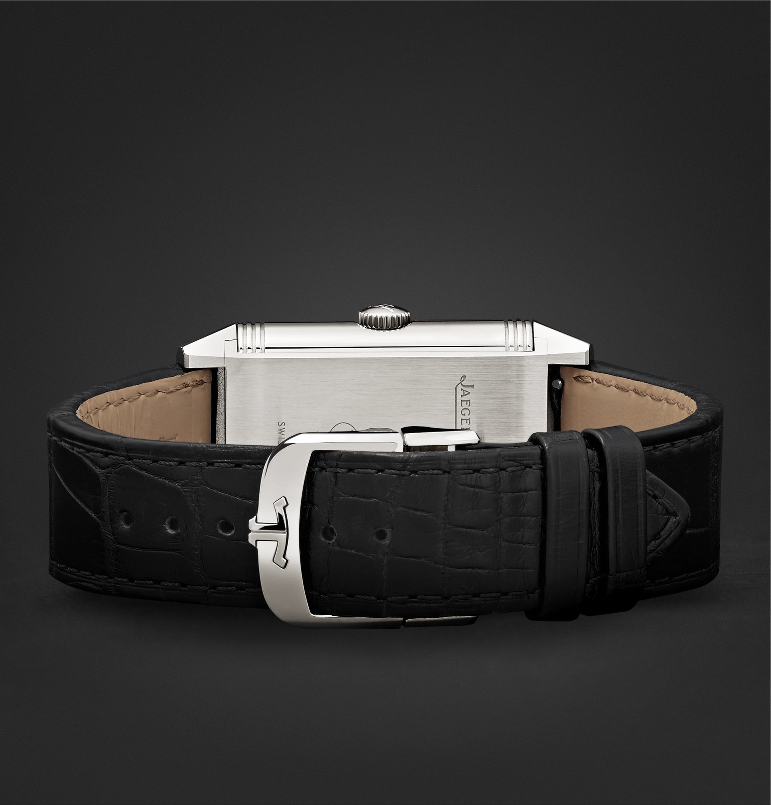 09640098814 Jaeger-LeCoultreReverso Classic Large Duoface 28mm Stainless Steel and  Leather Watch. £7
