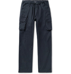 Arpenteur Navy Cotton-Twill Drawstring Cargo Trousers